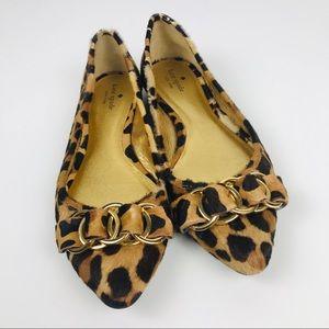 Kate Spade Eryn Leopard Cheetah Calf Fur Flats